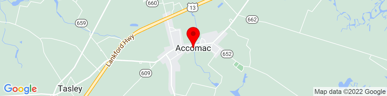 Google Map of 37.7195741, -75.66548449999999