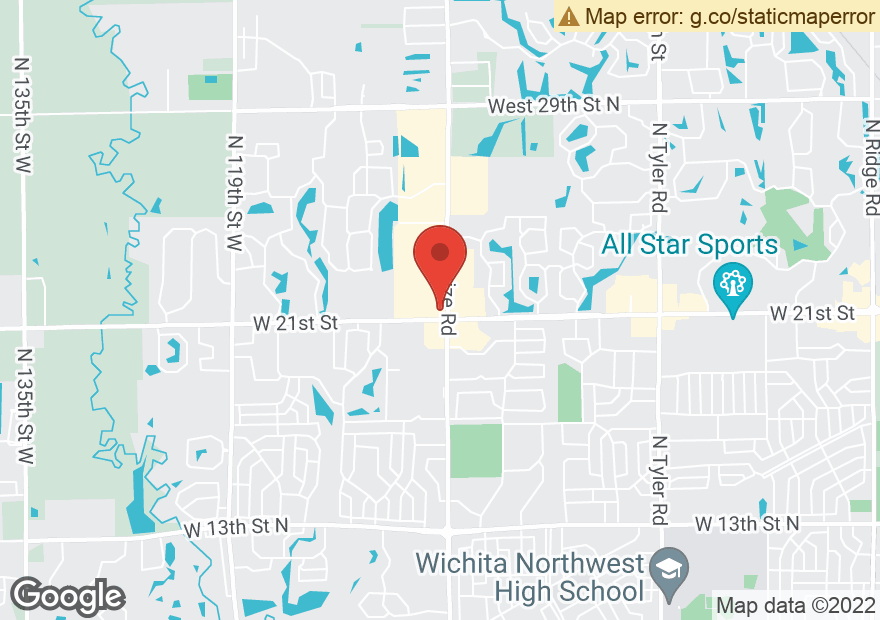 Google Map of 2229 N MAIZE RD