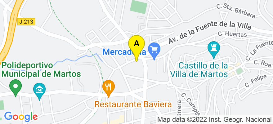 situacion en el mapa de . Direccion: C/ Lope de Vega, 7 Bjos., 23600 Martos. Jaén