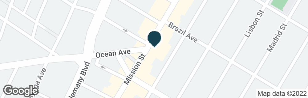 Google Map of4645 MISSION ST