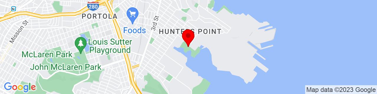 Google Map of 37.7244421, -122.3826037