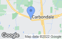 Map of Carbondale, IL