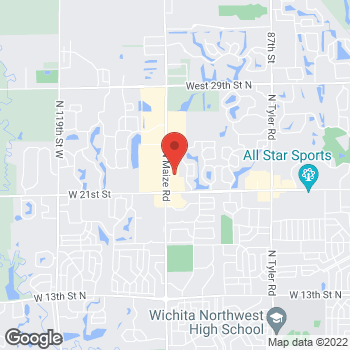 Map of Sprint at 2330 N Maize Rd, Wichita, KS 67205