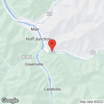 Map of Rite Aid at 260 Huff Creek Highway, Man, WV 25635