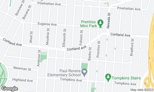 Map of 3rd Cousin at 919 Cortland Ave San Francisco, CA