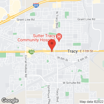 Map of Check `n Go 11th Street at 874 West 11th Street, Tracy, CA 95376