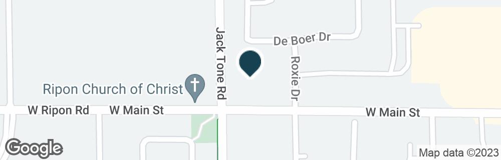 Google Map of102 N JACK TONE RD