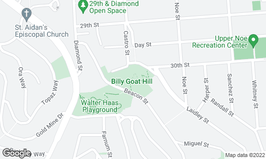 Map of Billy Goat Hill Park at 30th and Castro San Francisco, CA