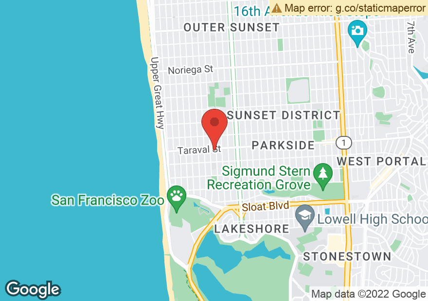 Google Map of 3001 TARAVAL ST