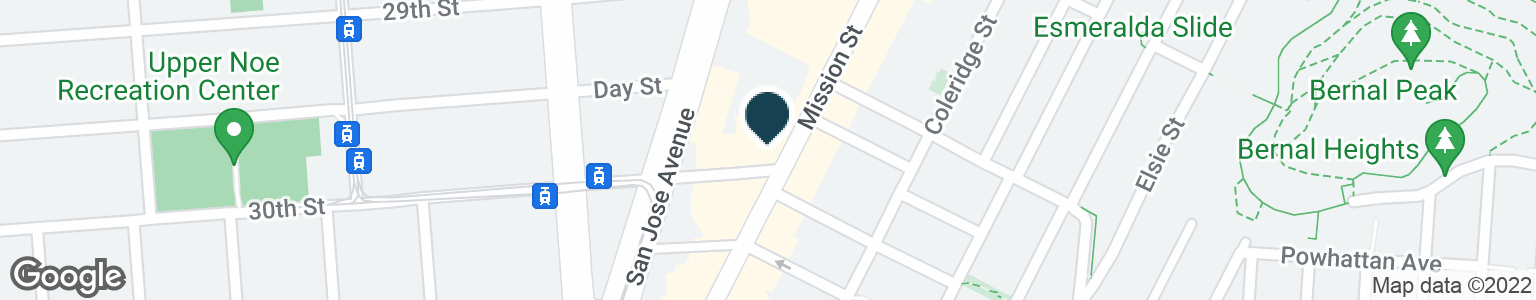 Google Map of3398 MISSION ST