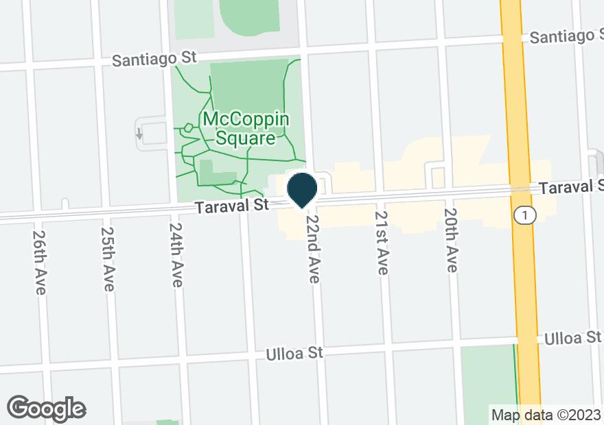 Google Map of1201 TARAVAL ST