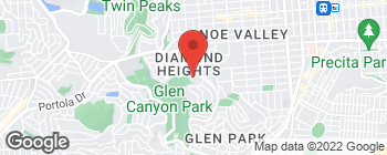 Mapa de 5224 Diamond Heights Blvd en San Francisco