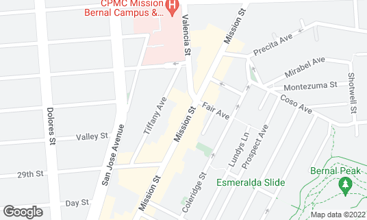 Map of Los Panchos at 3206 Mission St San Francisco, CA
