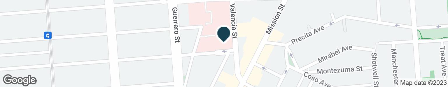 Google Map of1580 VALENCIA ST