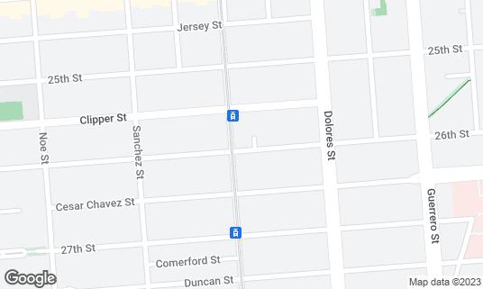 Map of Chloe's Cafe at 1399 Church St San Francisco, CA