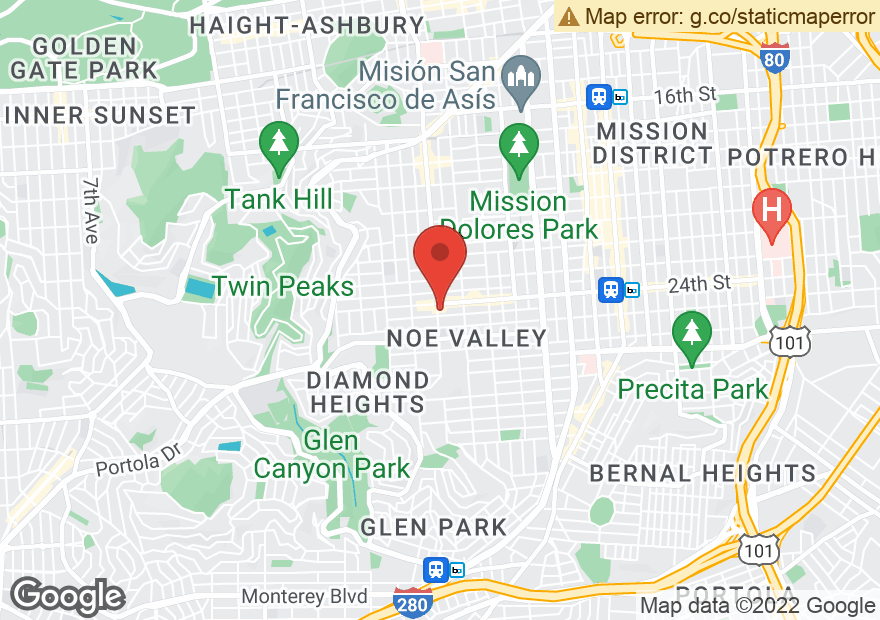 Google Map of 1333 CASTRO ST