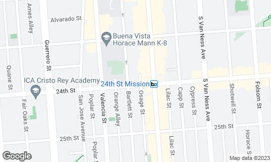 Map of 24th Street Bar at 3336 24th St San Francisco, CA