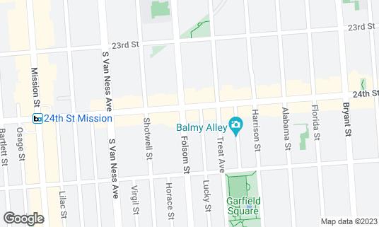 Map of Alma Cocina at 2801 Folsom St San Francisco, CA