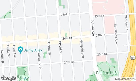 Map of Kazan at 2809 24th St San Francisco, CA