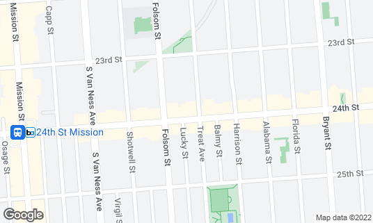 Map of Big Rec Taproom at 3066 24th St San Francisco, CA