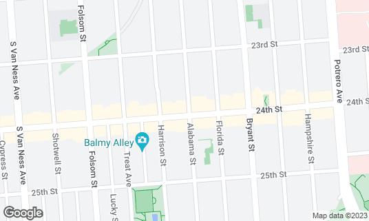 Map of Taqueria El Farolito at 2950 24th St San Francisco, CA