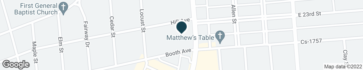 Google Map of2318 FREDERICA ST