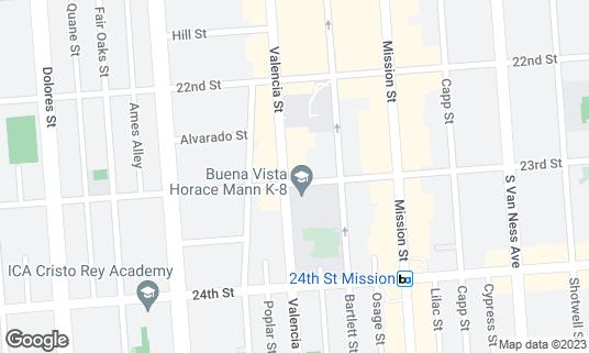 Map of Beretta at 1199 Valencia St San Francisco, CA