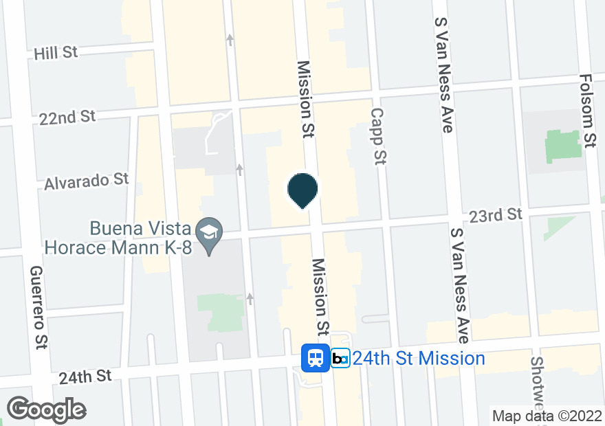 Google Map of2690 MISSION ST