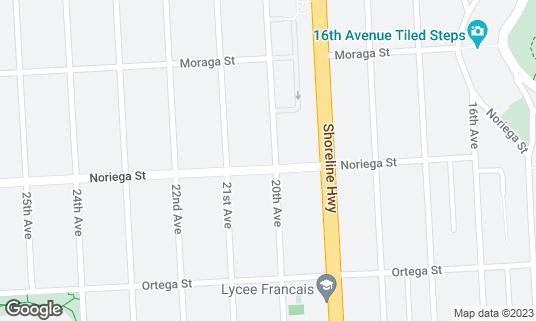 Map of Golden Island Cafe at 1300 Noriega St San Francisco, CA