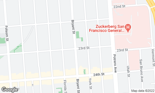 Map of Buttermilk Southern Kitchen at 2848 23rd St San Francisco, CA
