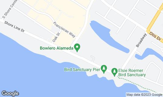 Map of AMF Southshore Lanes at 300 Park St Alameda, CA