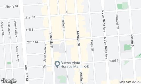 Map of Make Out Room at 3225 22nd St San Francisco, CA