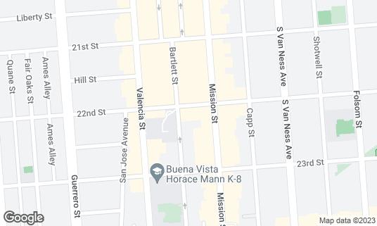 Map of Cava 22 at 3239 22nd St San Francisco, CA