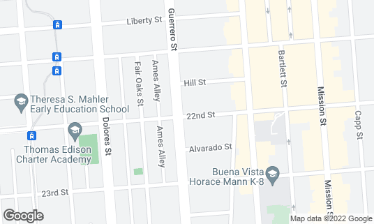 Map of Lone Palm at 3394 22nd St San Francisco, CA