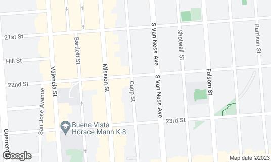 Map of El Trebol at 3149 22nd St San Francisco, CA