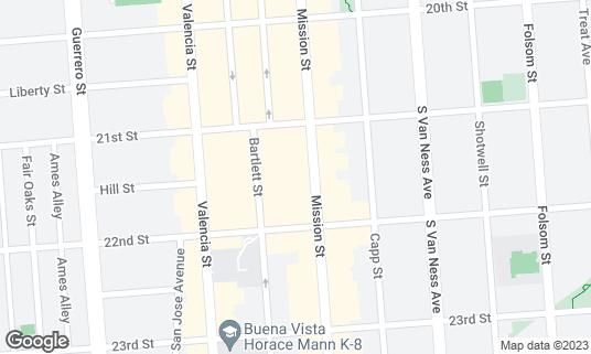Map of Bear Vs Bull at 2550 Mission St San Francisco, CA