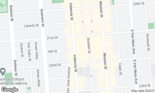 Map of Aslam's Rasoi at 1037 Valencia St San Francisco, CA