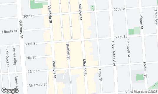Map of Lolinda at 2518 Mission St San Francisco, CA