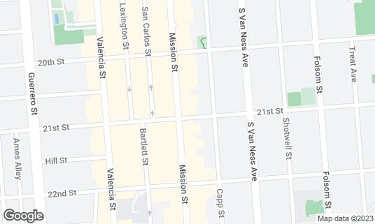 Map of Myriad Gastropub at 2491 Mission St San Francisco, CA