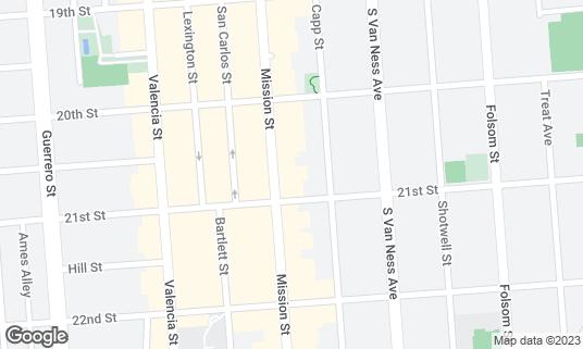 Map of La Taza at 2475 Mission St San Francisco, CA