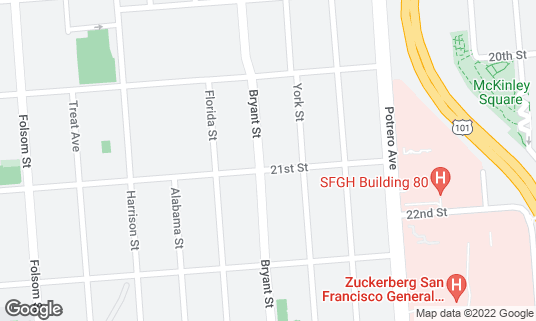 Map of Asiento at 2730 21st St San Francisco, CA