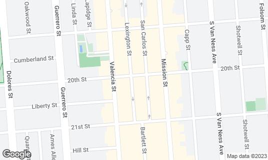Map of 20 SPOT at 3565 20th St San Francisco, CA