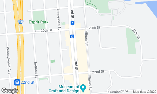 Map of Long Bridge Pizza at 2347 3rd St San Francisco, CA