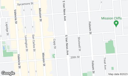Map of Benders at 806 S Van Ness Ave San Francisco, CA