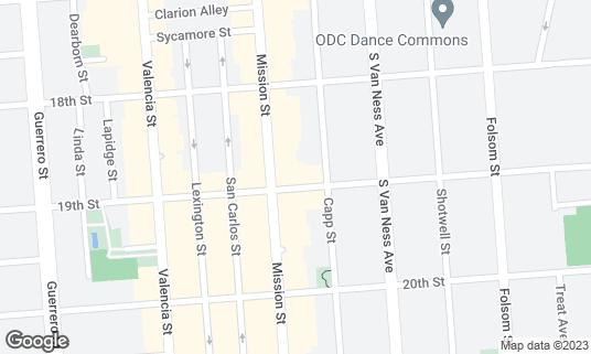 Map of Bissap Baobab at 3372 19th St San Francisco, CA
