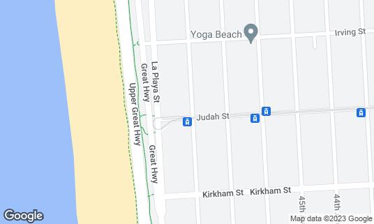 Map of Beachside Coffee Bar & Kitchen at 4300 Judah St San Francisco, CA