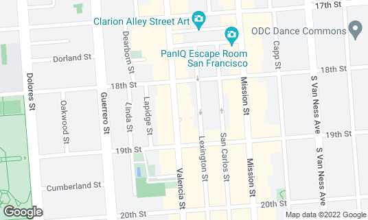 Map of Mosto at 741 Valencia St San Francisco, CA