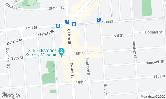 Map of Castro Country Club at 4058 18th St San Francisco, CA