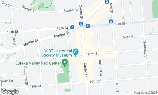 Map of Blush at 476 Castro St San Francisco, CA