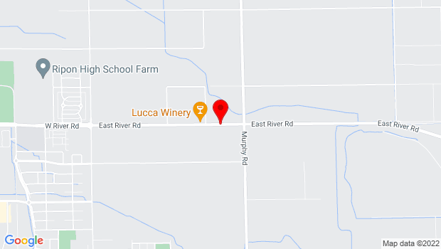 Google Map of 16265 East River Rd., Ripon, CA 95366